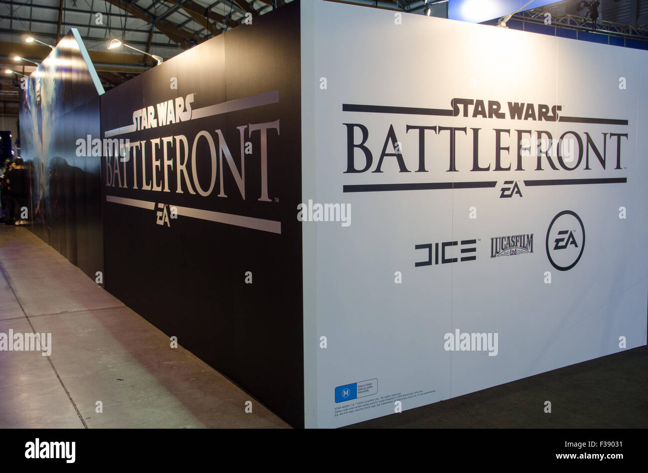 Sydney, Australia. 2nd October, 2015. Star Wars Battlefront booth at the 2015 EB Expo which took place at Syndey's - Stock Image