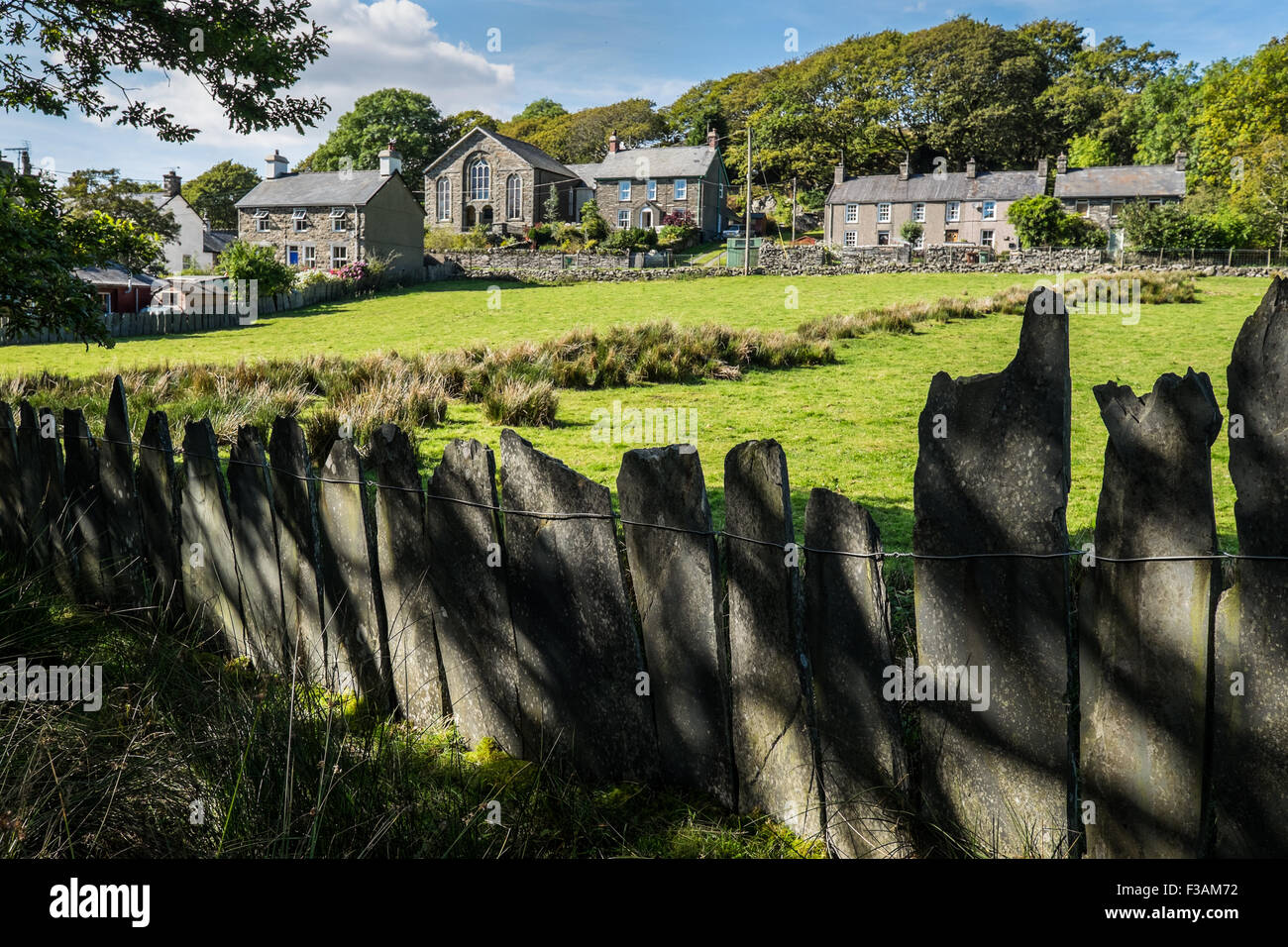 Croesor village, Gwynedd, Wales Stock Photo