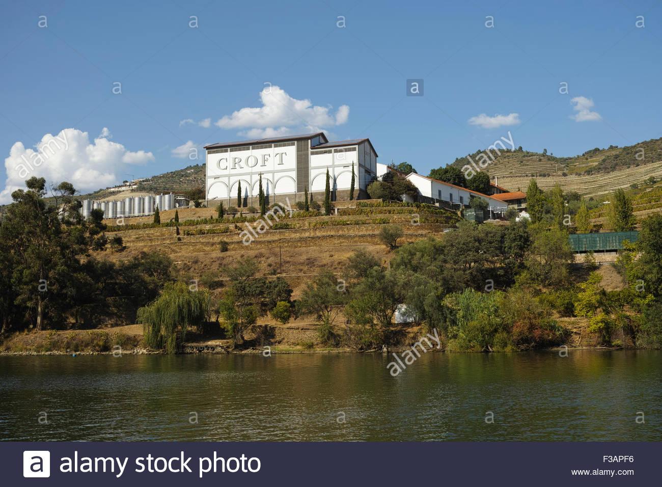 The Quinta da Roêda winery famous for Croft port wine: Pinhao, Portugal. Stock Photo