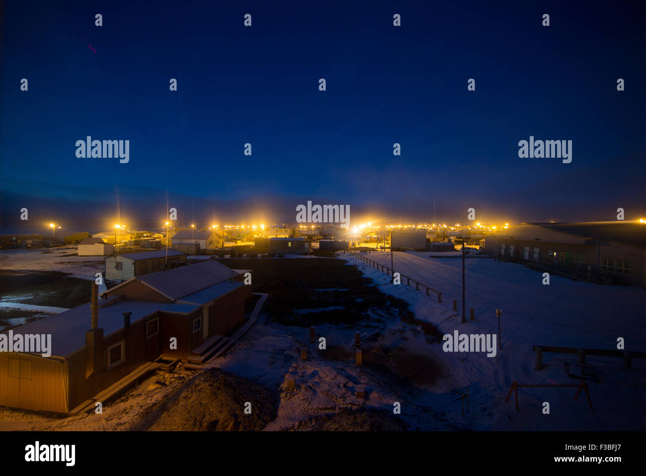 Utqiaġvik looking out over the Beaufort Sea Stock Photo