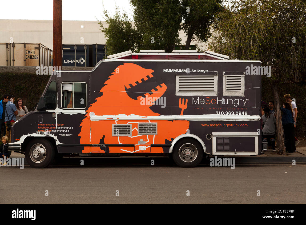 Food Truck, The Brewery Art Walk - October 4, 2015 - Los Angeles, California, USA - Stock Image