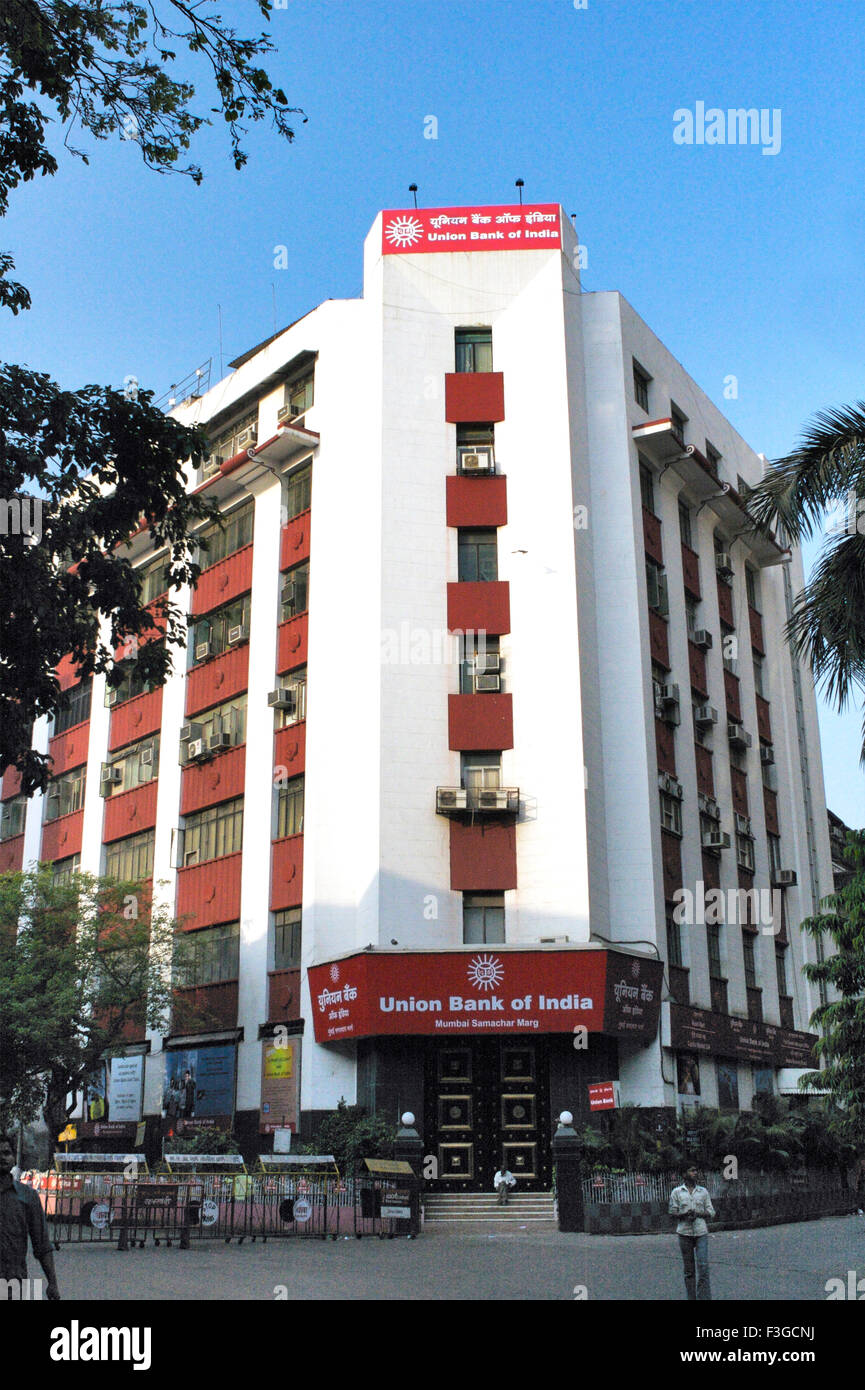 Union Bank of India building near Bombay Stock Exchange ; Bombay now Mumbai ; Maharashtra ; India Stock Photo
