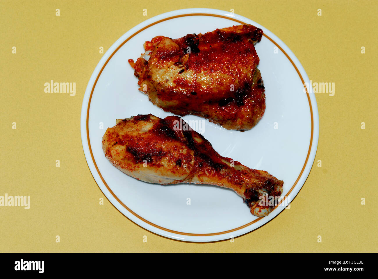 Indian Non Vegetarian Food Grilled Chicken Legs Piece Or Drum