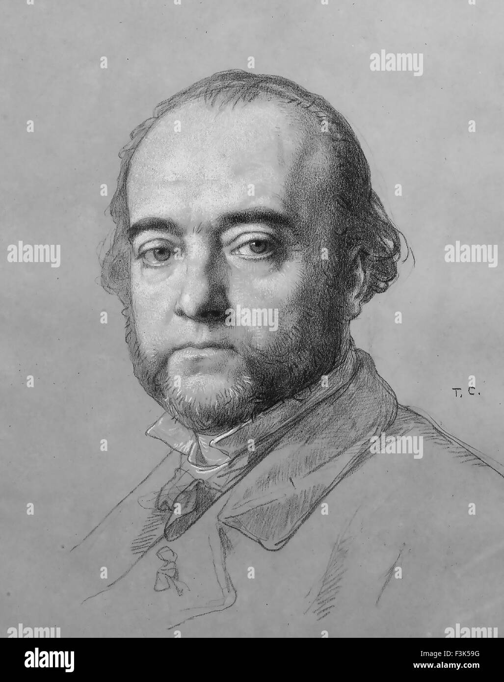 FERDINAND BARBEDIENNE (1810-1892) French metalurgist - Stock Image