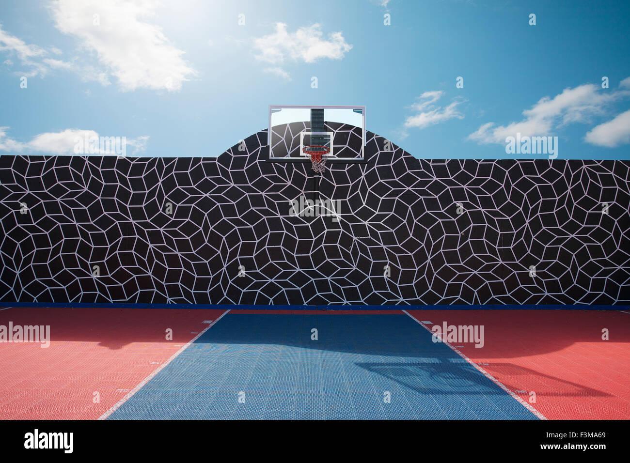 Pattern Net Toronto Wall Basketball Court Stock Photo 88342865 Alamy