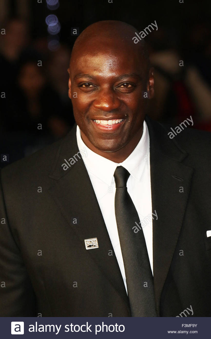 London, Great Britain. October 8th, 2015. ENGLAND, London: Adewale Akinnuoye attends the London Film Festival in - Stock Image