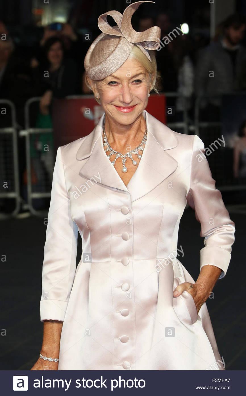 London, Great Britain. October 8th, 2015. ENGLAND, London: Helen Mirren attends the London Film Festival in London, - Stock Image