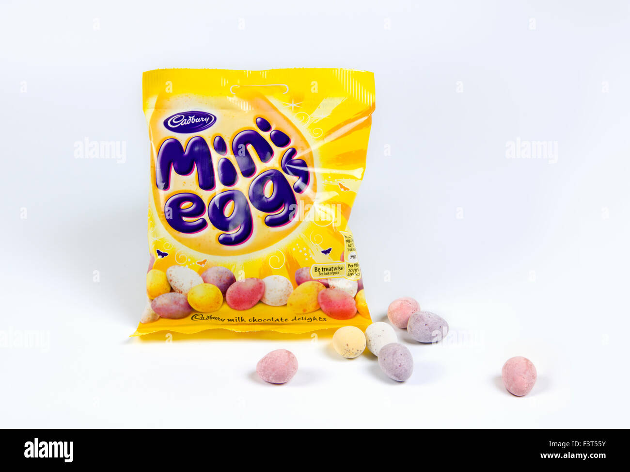 Cadbury mini eggs on whit background Stock Photo