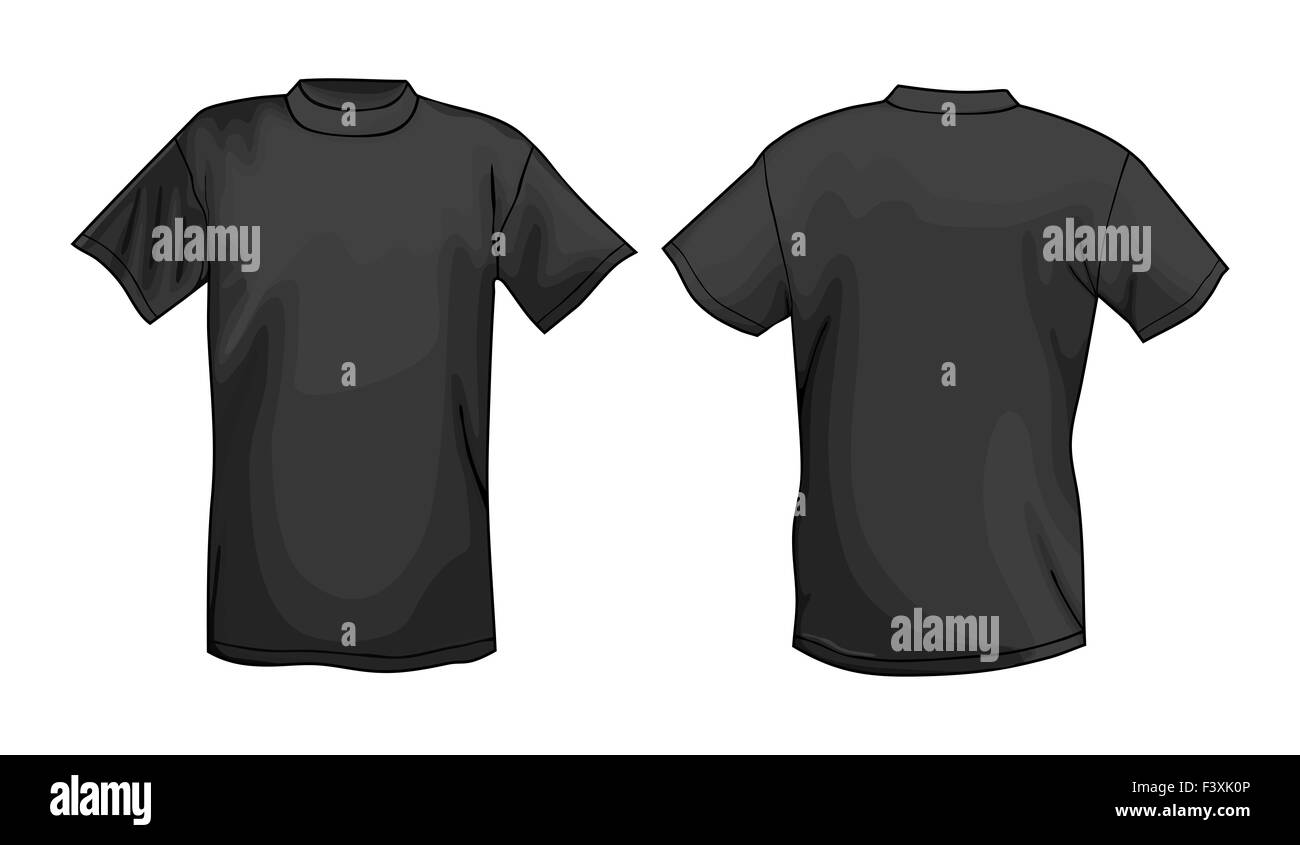 Black t shirt design template front back stock photo 88481478 alamy black t shirt design template front back maxwellsz