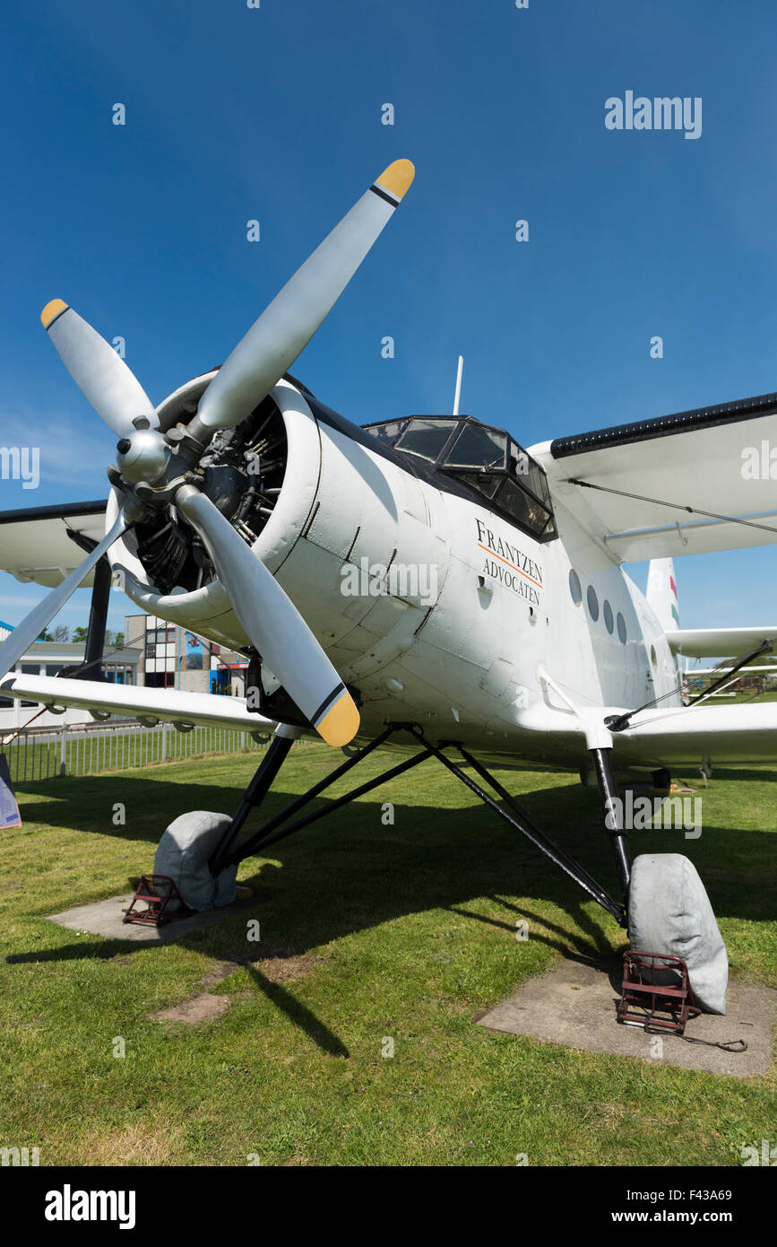 Nose and propeller motor of Antonov 2P colt - Stock Image