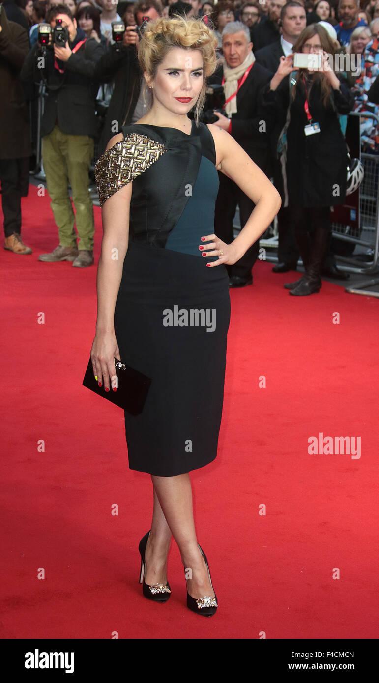 London, UK. October 15, 2015 - Paloma Faith attending 'Youth' screening at BFI London Film Festival at Odeon, - Stock Image