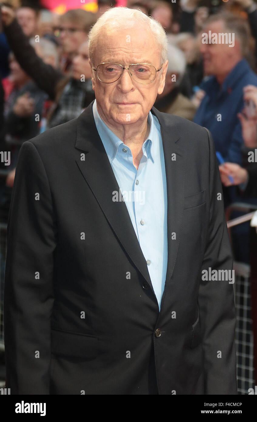 London, UK. October 15, 2015 - Michael Caine attending 'Youth' screening at BFI London Film Festival at - Stock Image