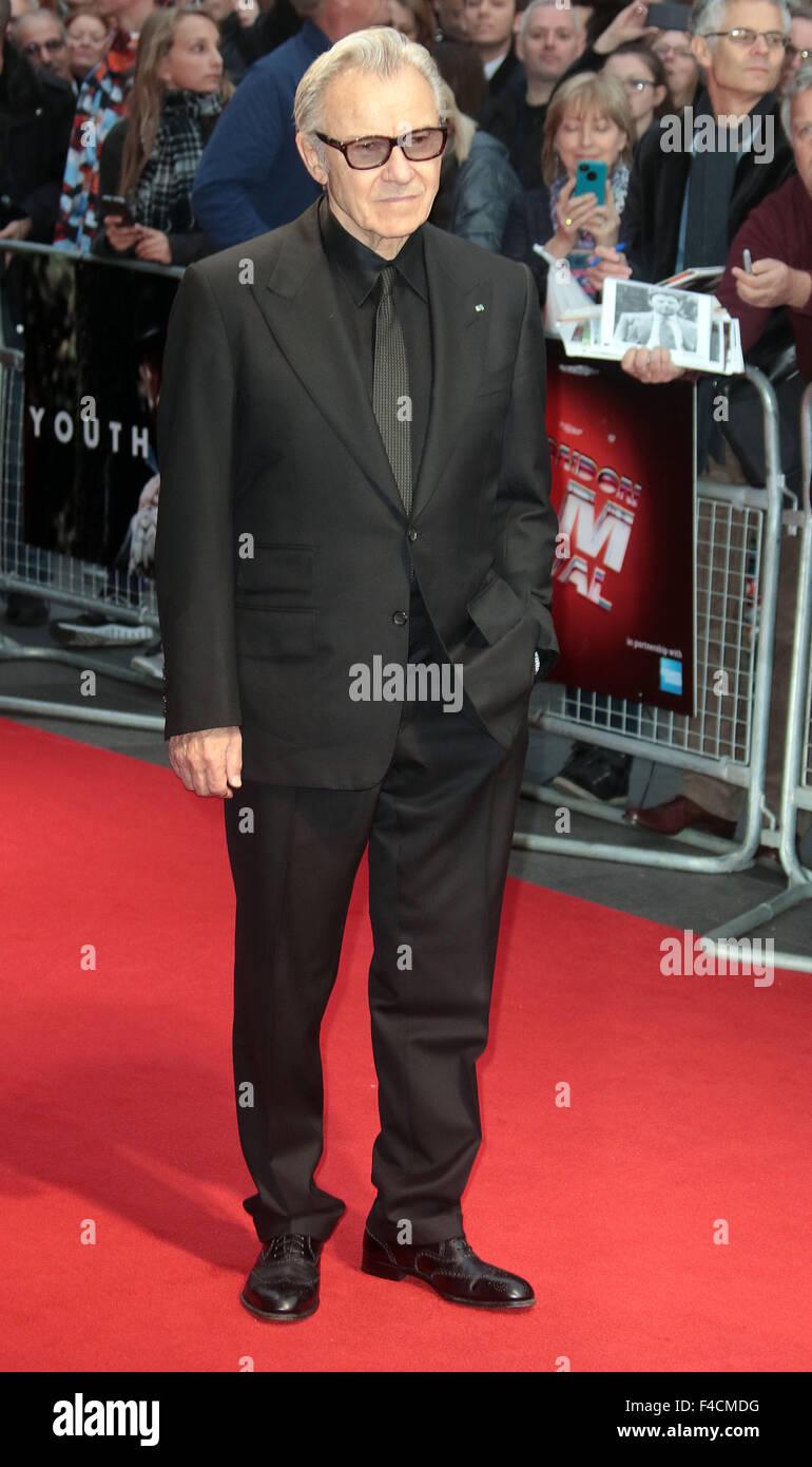 London, UK. October 15, 2015 - Harvey Keitel attending 'Youth' screening at BFI London Film Festival at - Stock Image
