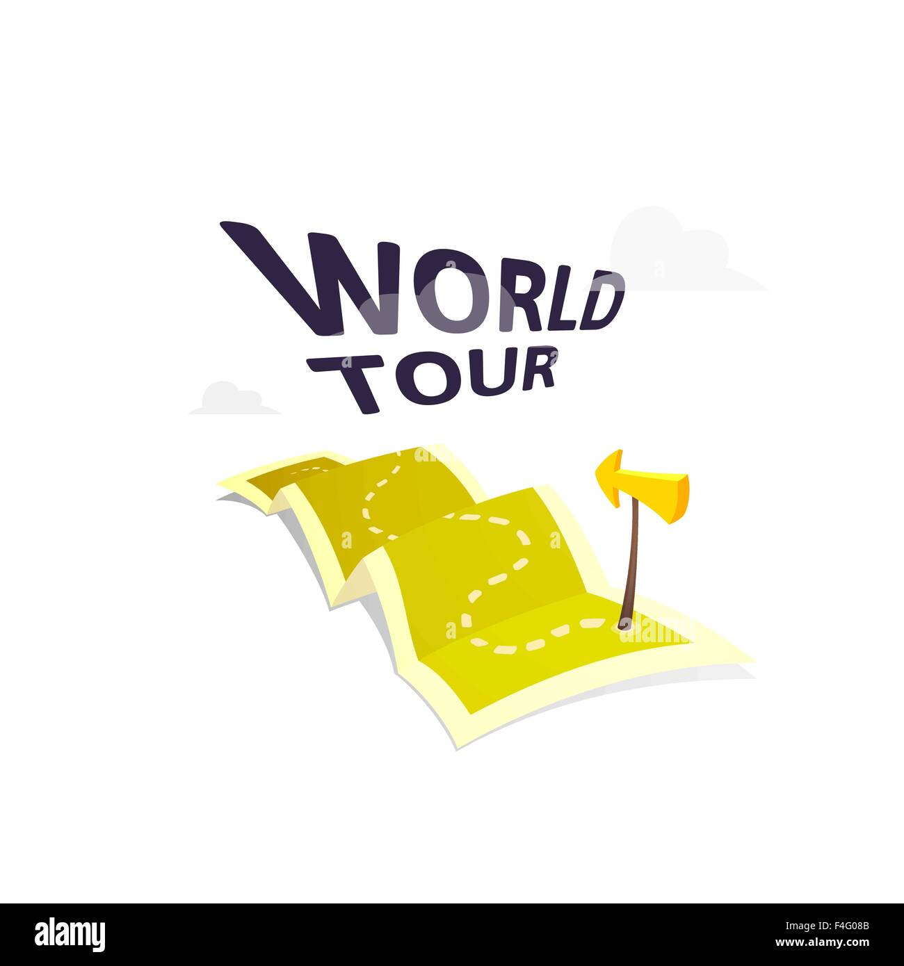 World tour concept logo isolated on white background long route in world tour concept logo isolated on white background long route in travel map with guide marker gumiabroncs Images