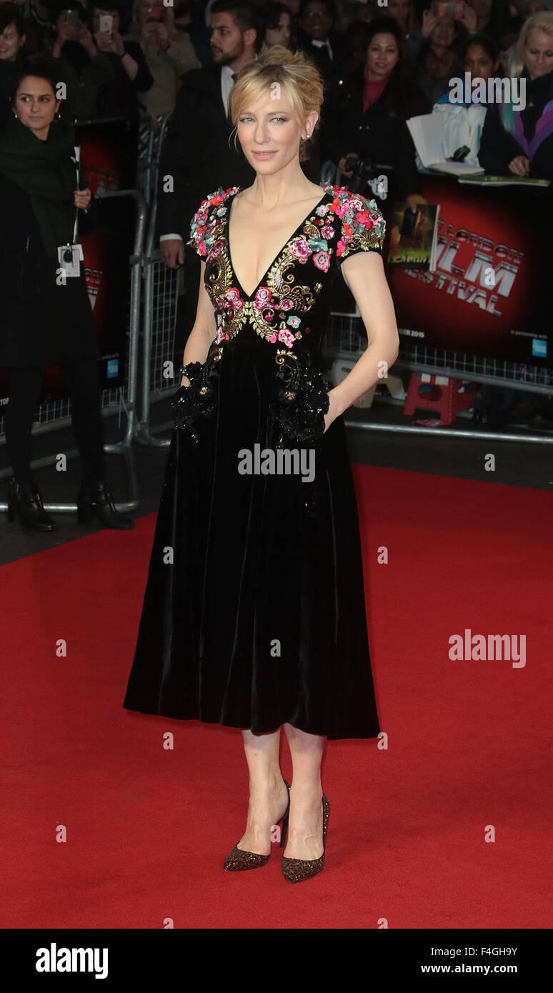 London, UK. 17th October, 2015. Cate Blanchett attending 'Truth' screening at BFI London Film Festival at - Stock Image