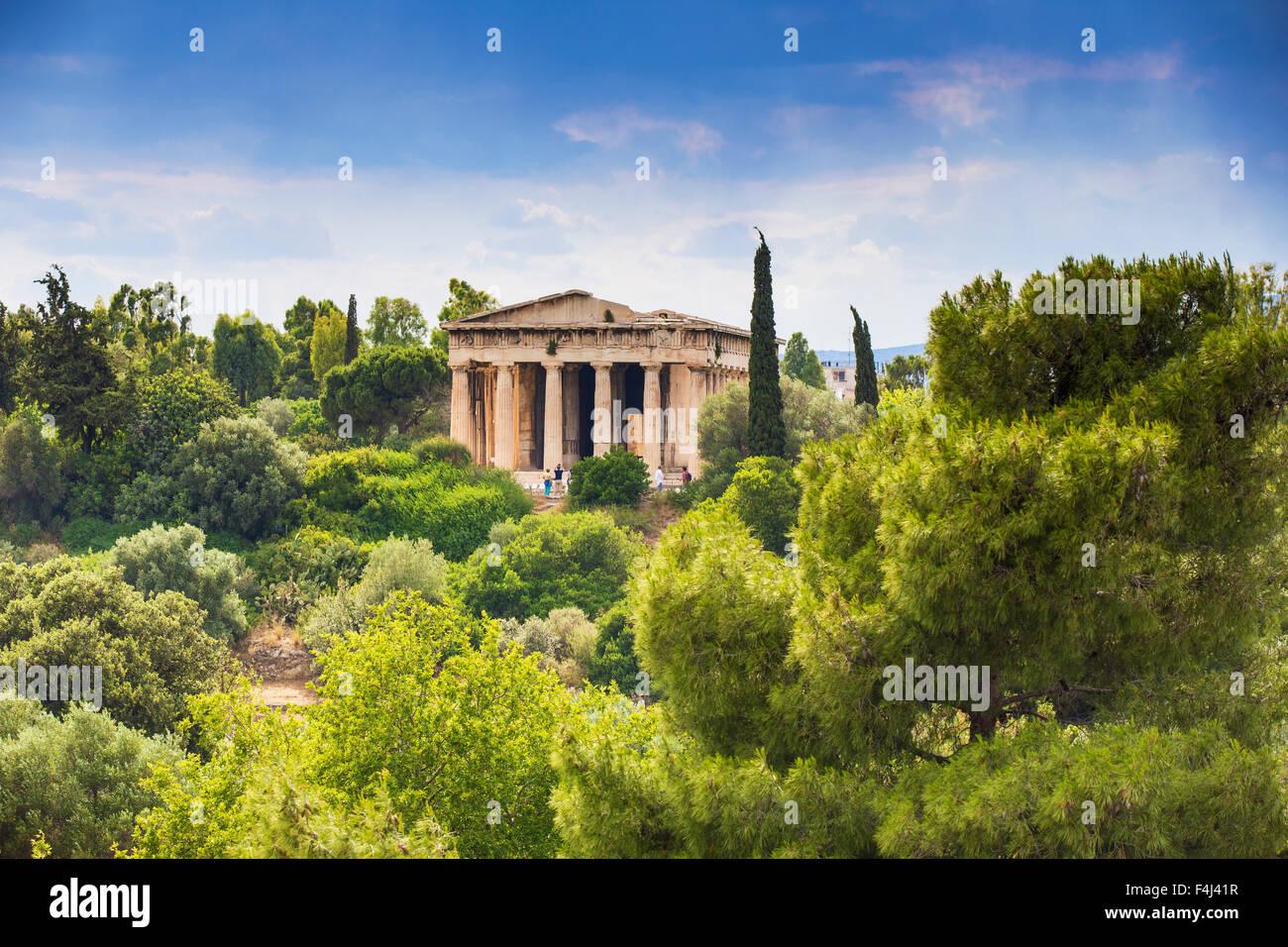 Temple of Hephaestus, The Agora, Athens, Greece, Europe Stock Photo