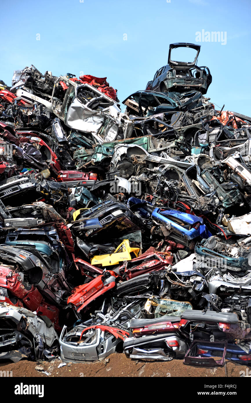 Car breakers Car scrap yard Scrap Yard Zaandam, Netherlands Stock ...