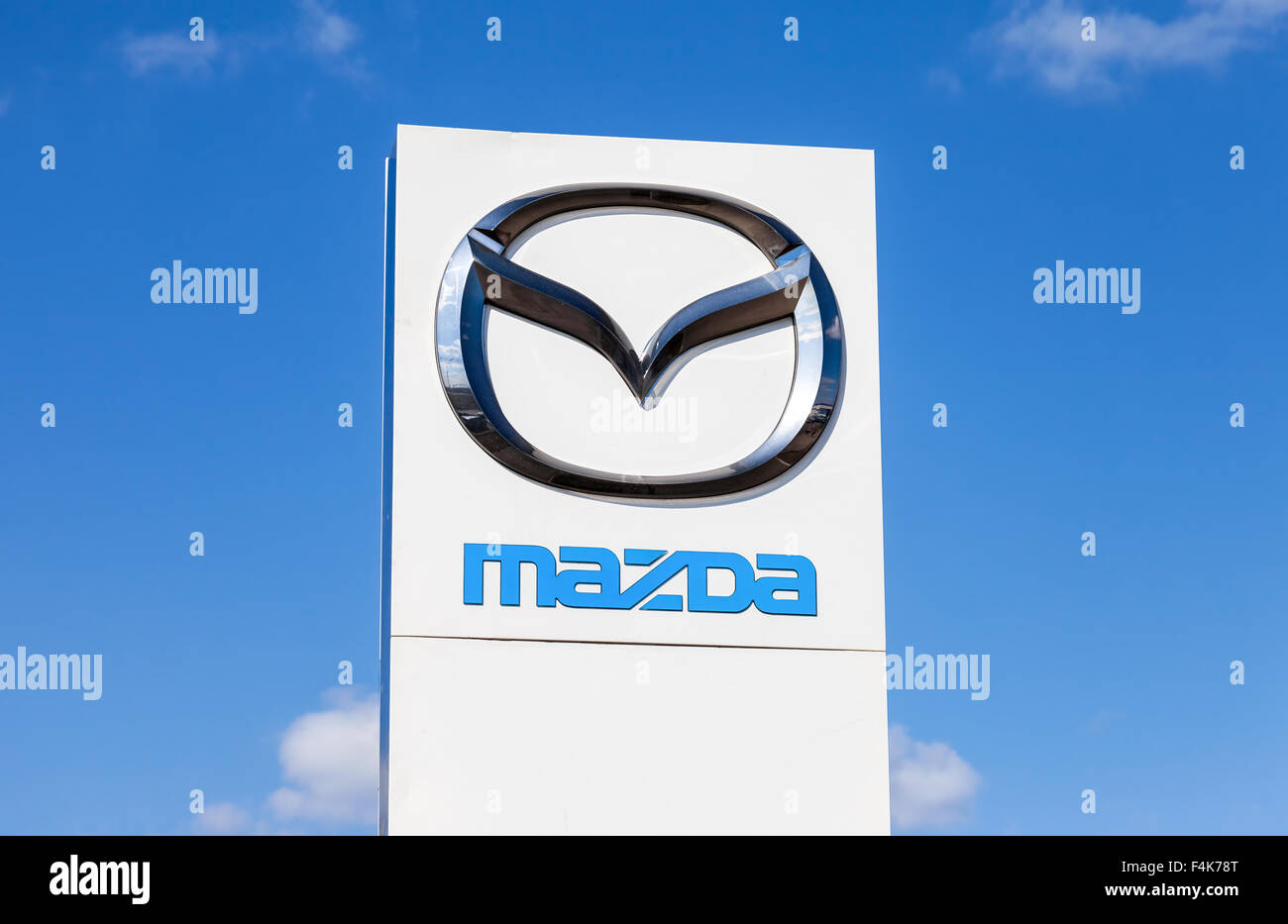 Official Dealership Sign Of Mazda Mazda Motor Corporation Is A