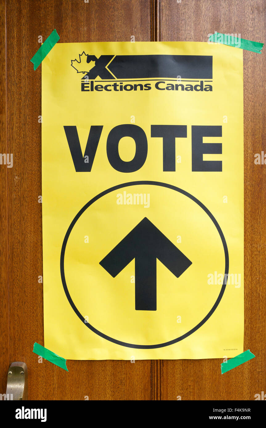 an-elections-canada-sign-taped-to-the-do