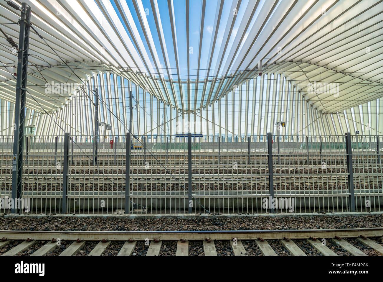 Mediopadana High Speed Train Station in Reggio Emilia, Italy. - Stock Image