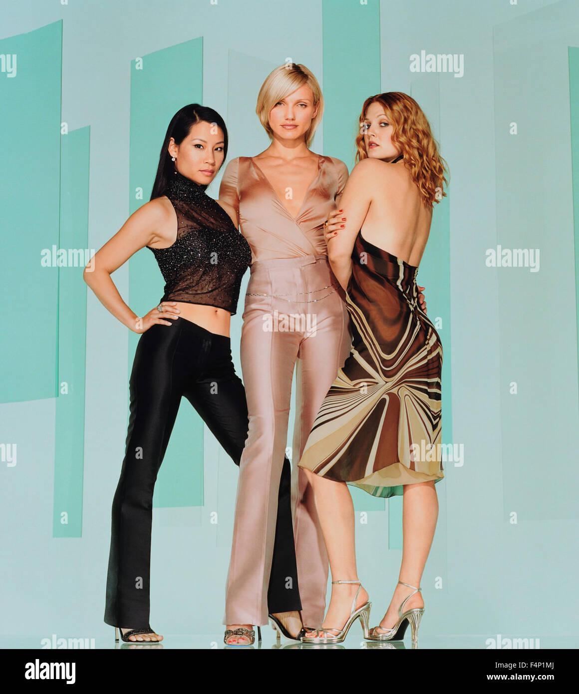 Drew Barrymore, Lucy Liu and Cameron Diaz   Charlie's angels: Les anges se dechaînent (2003)   USA  Director : McG Stock Photo