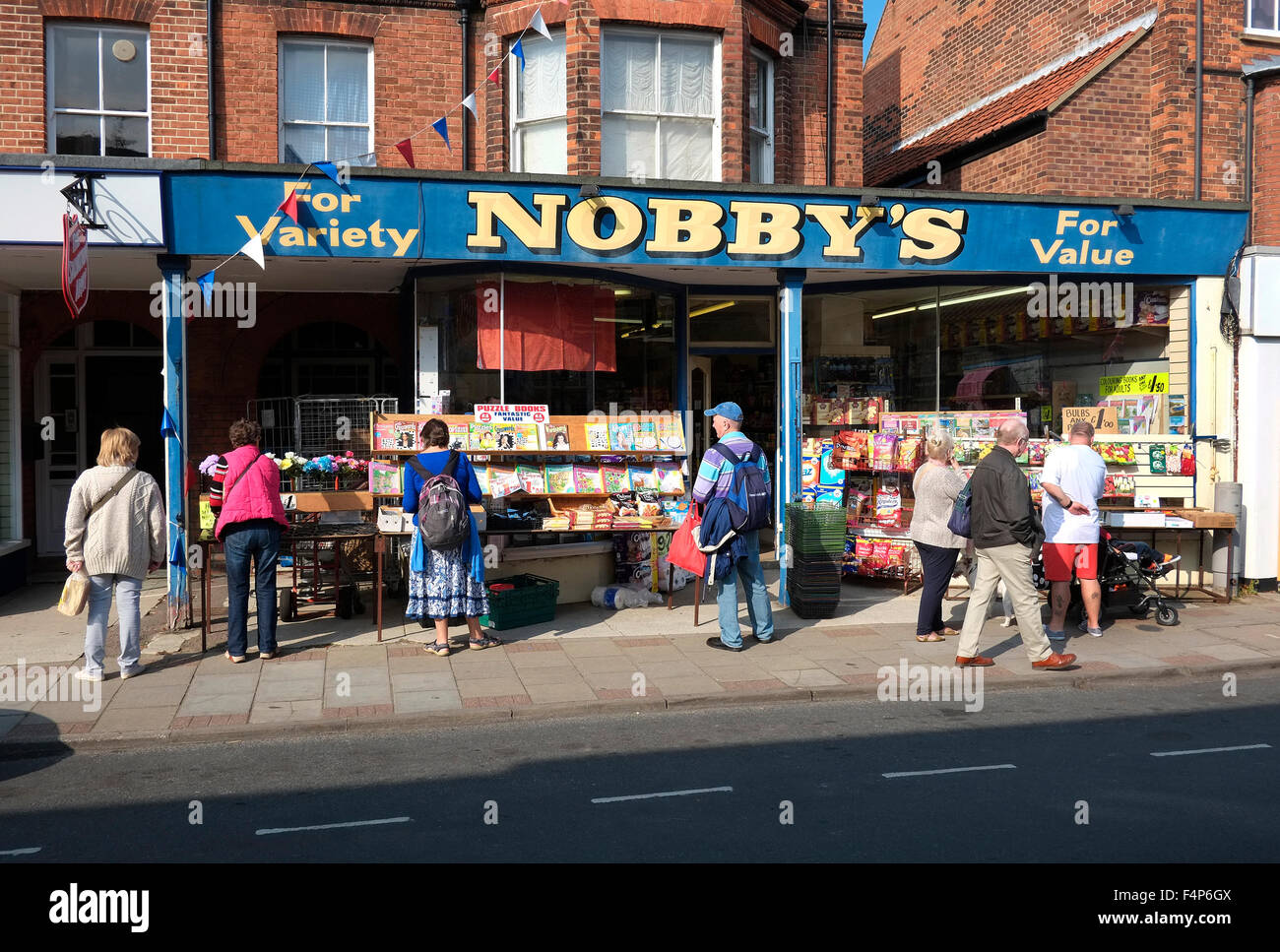 Nobbyu0027s Discount Store, Sheringham, North Norfolk, England   Stock Image