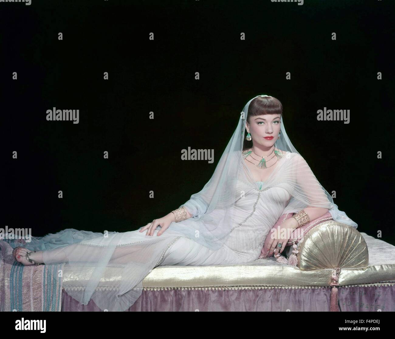 Anne Baxter / The Ten Commandments 1956 directed by Cecil B. DeMille Stock Photo