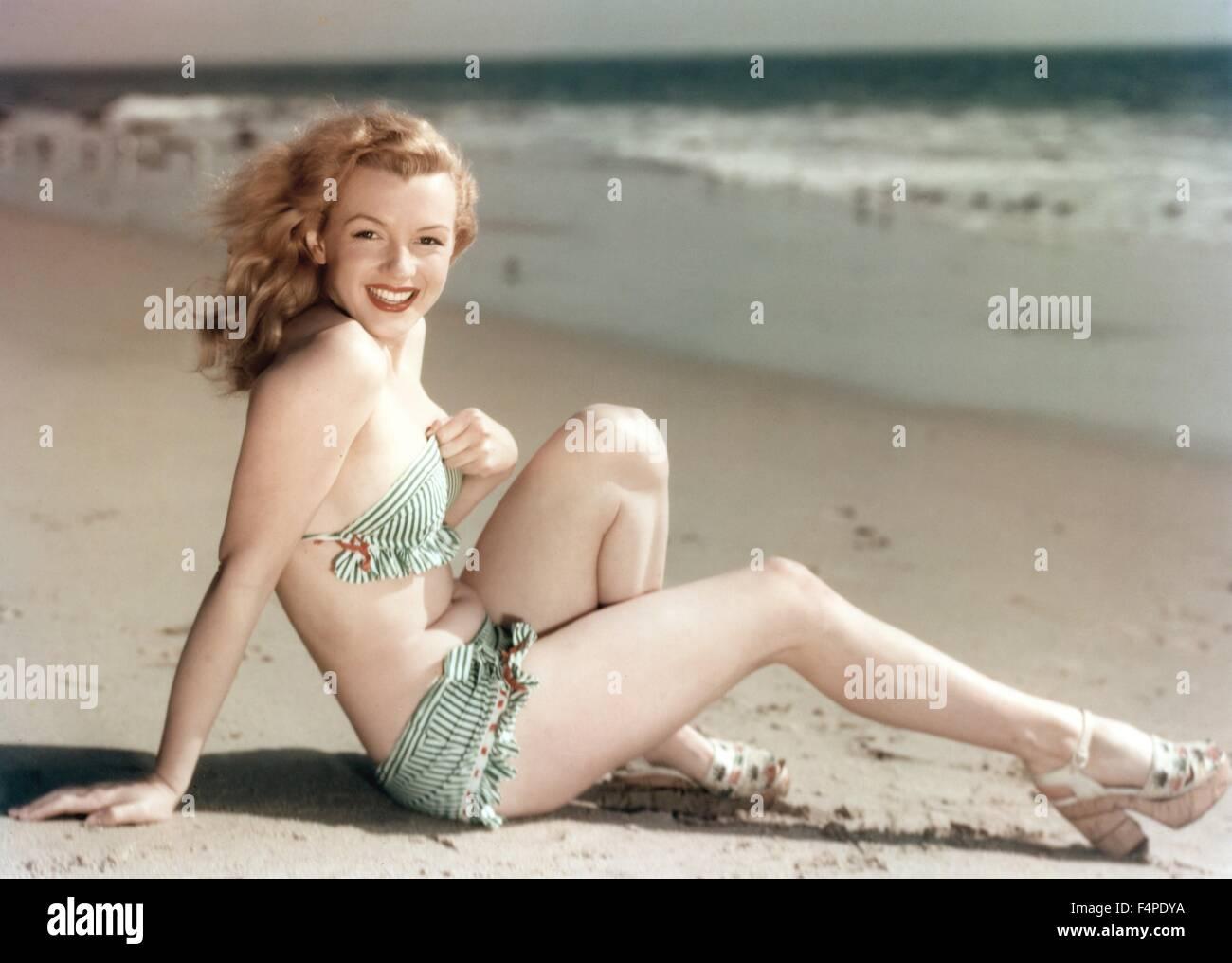 Marilyn Monroe in 1946 - Stock Image