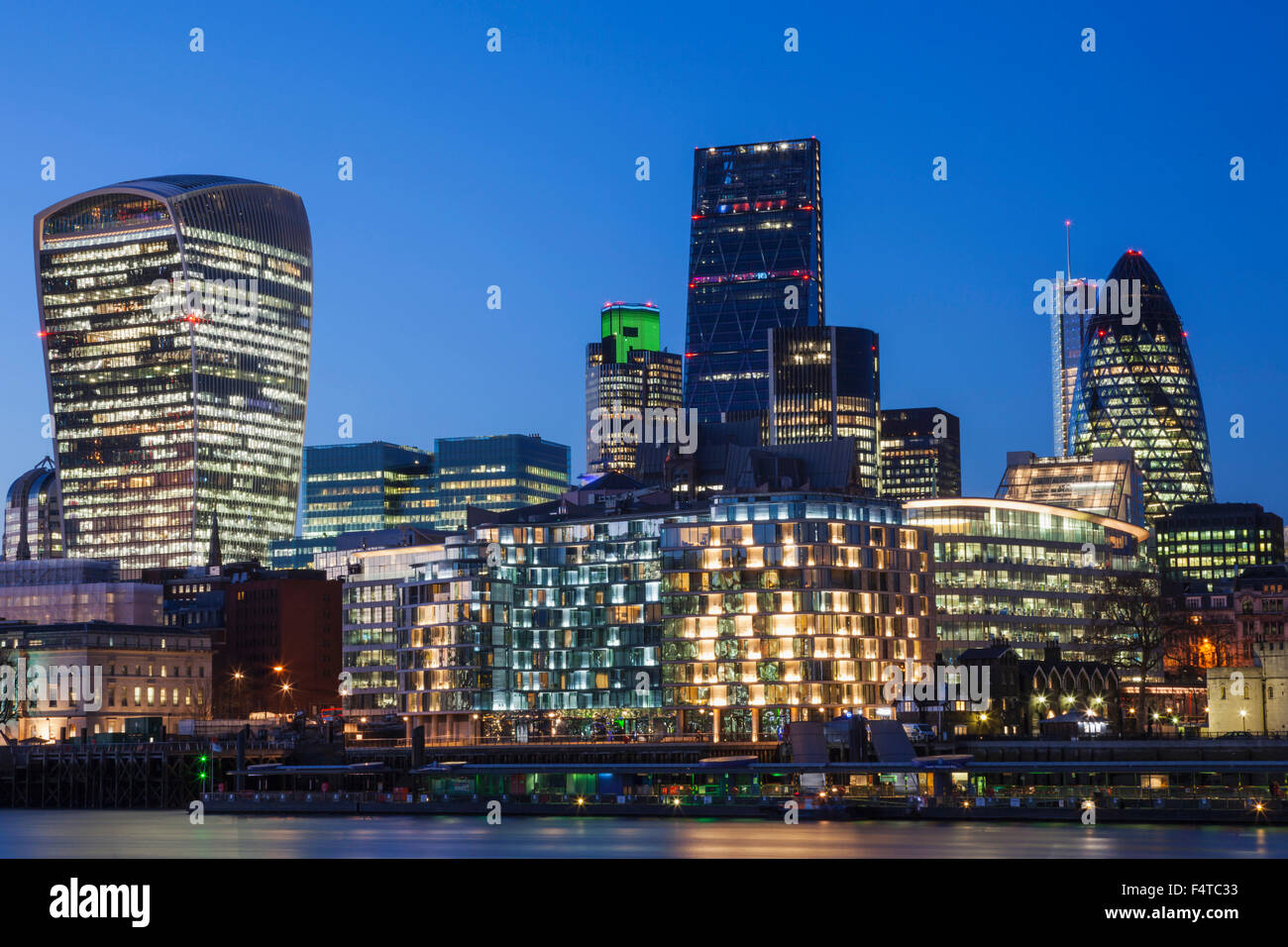 England, London, City, Skyline - Stock Image