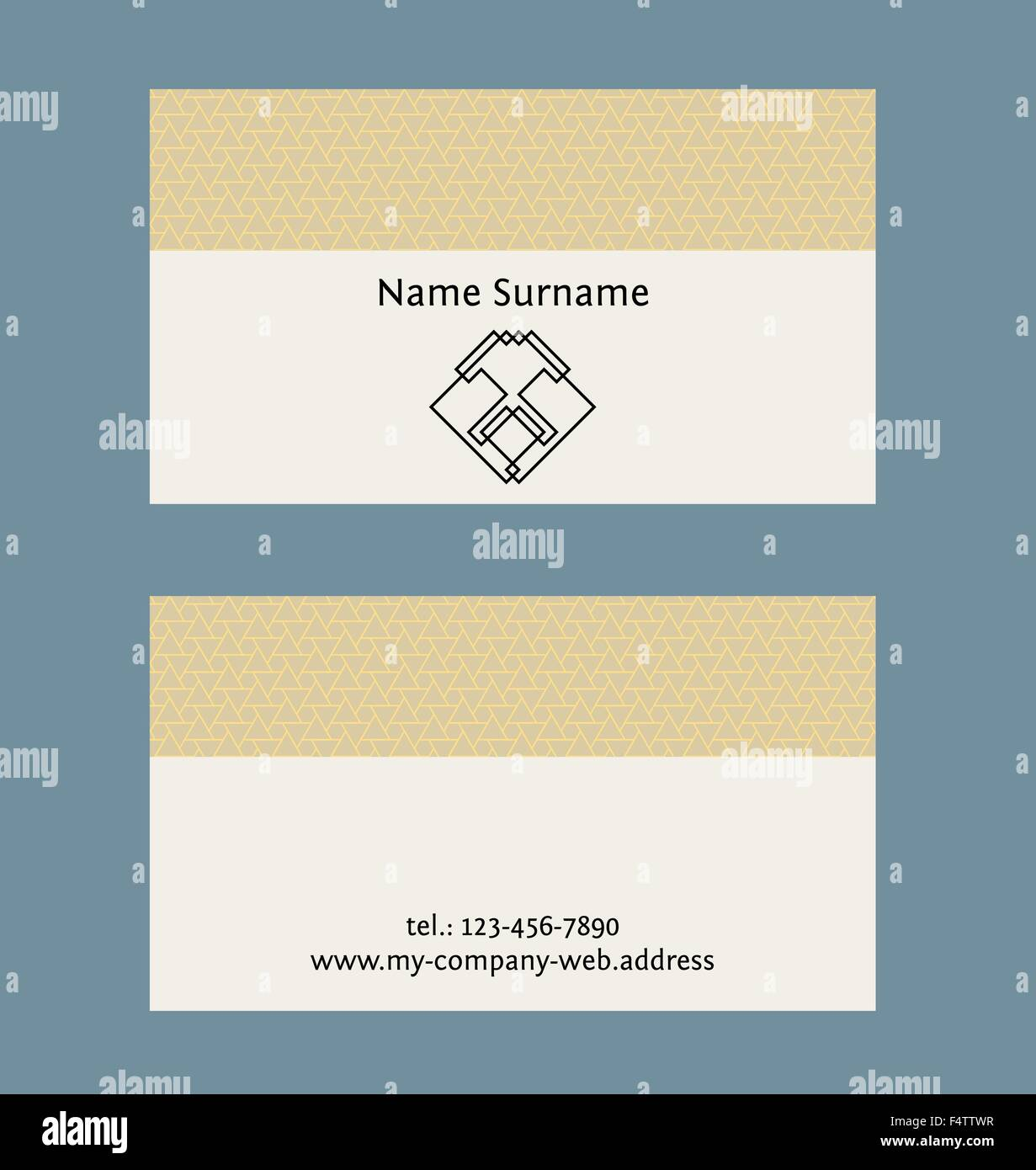 Business card layout linear geometric logo and pattern editable business card layout linear geometric logo and pattern editable design template friedricerecipe Gallery