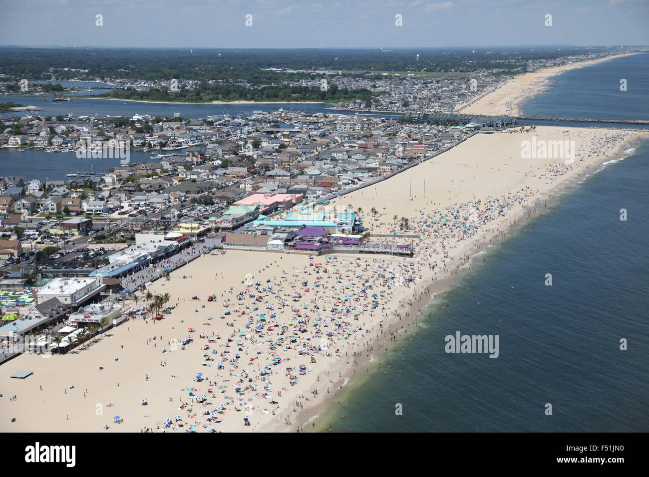 Aerial view of Point Pleasant Beach, New Jersey Stock Photo