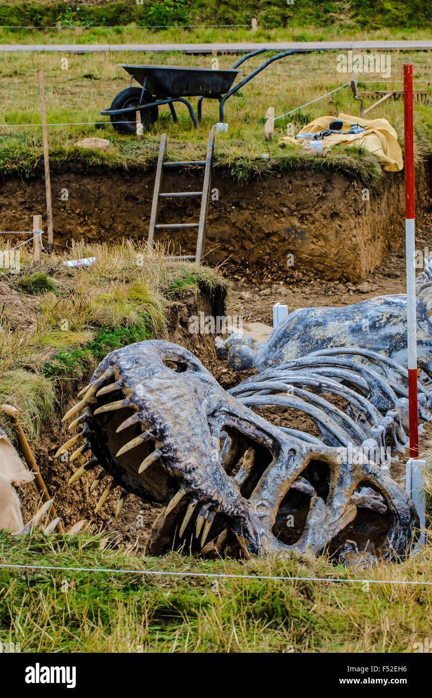 mock-up-of-an-early-fossil-dig-as-part-of-the-2015-goodwood-revival-F52EH6.jpg