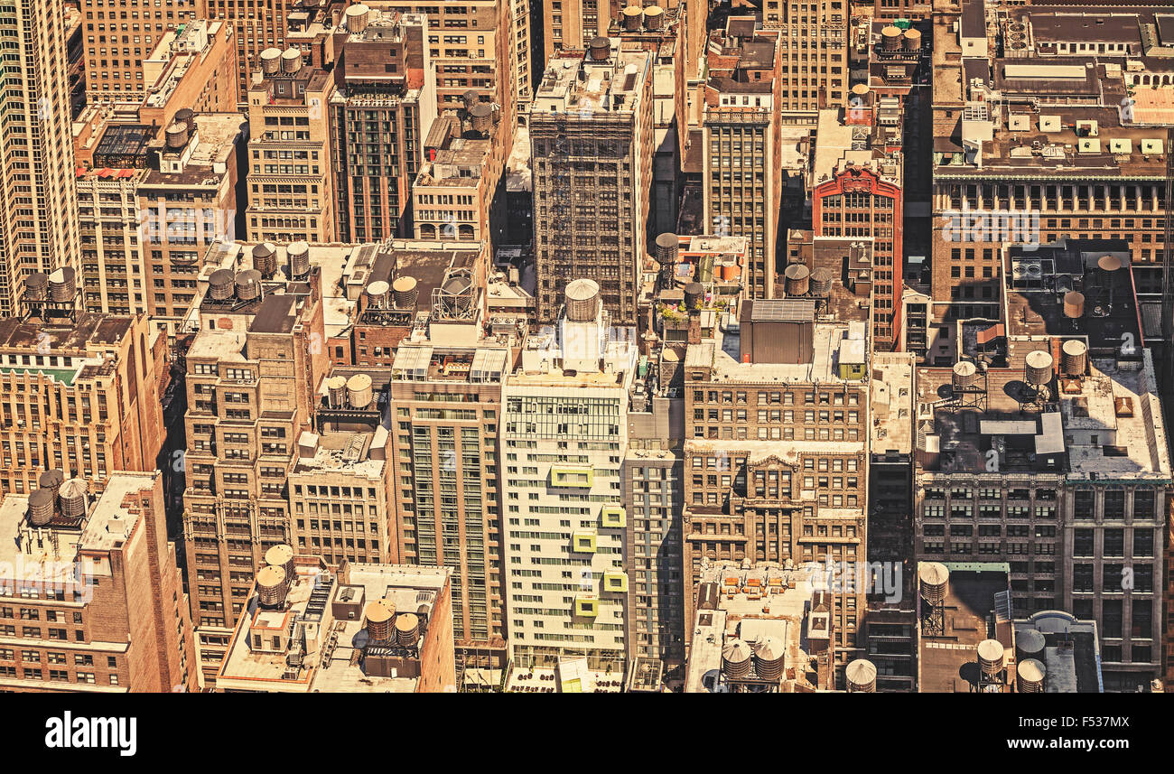 Retro filtered picture of New York City, USA. - Stock Image