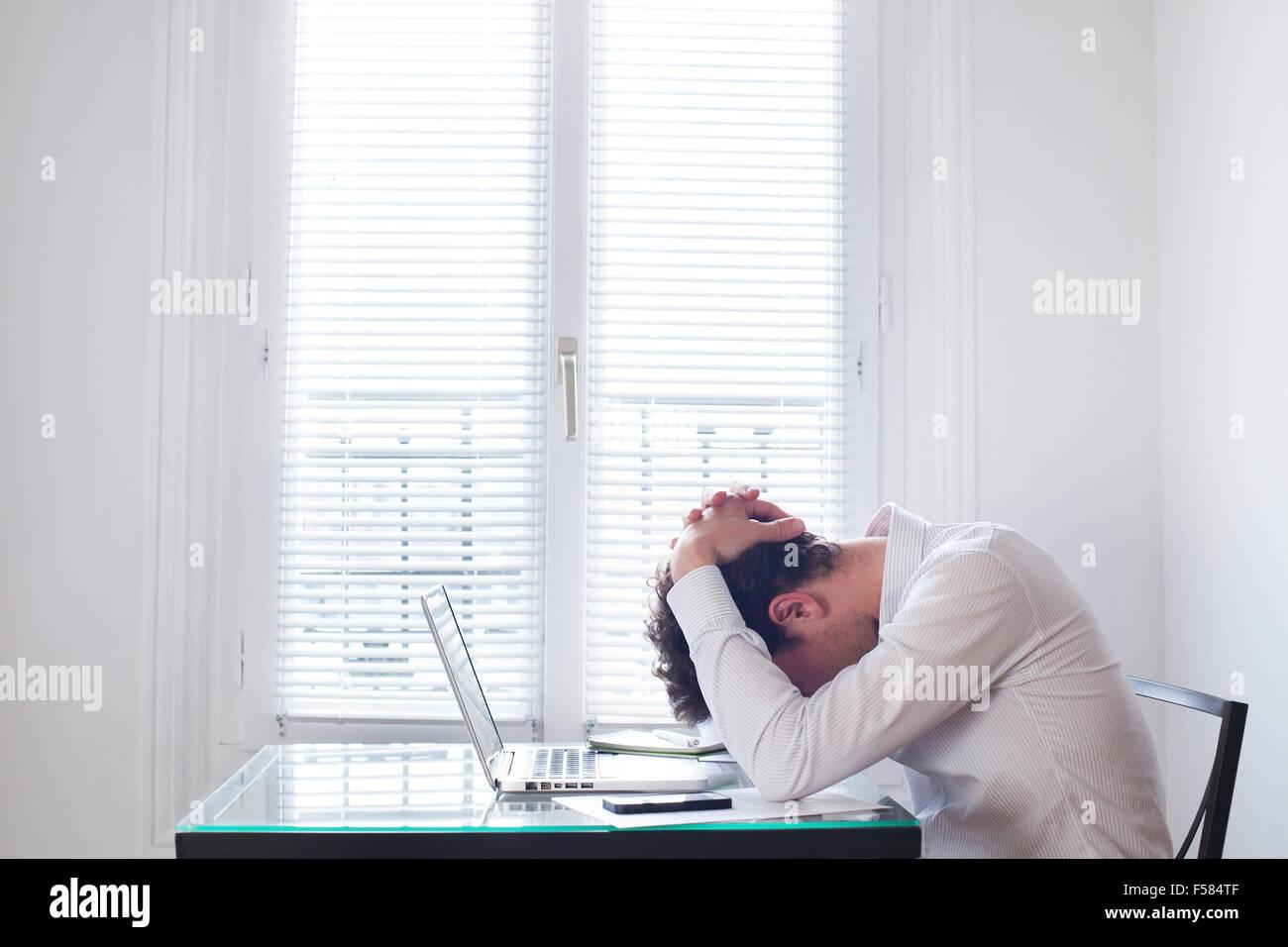 stress at work - Stock Image