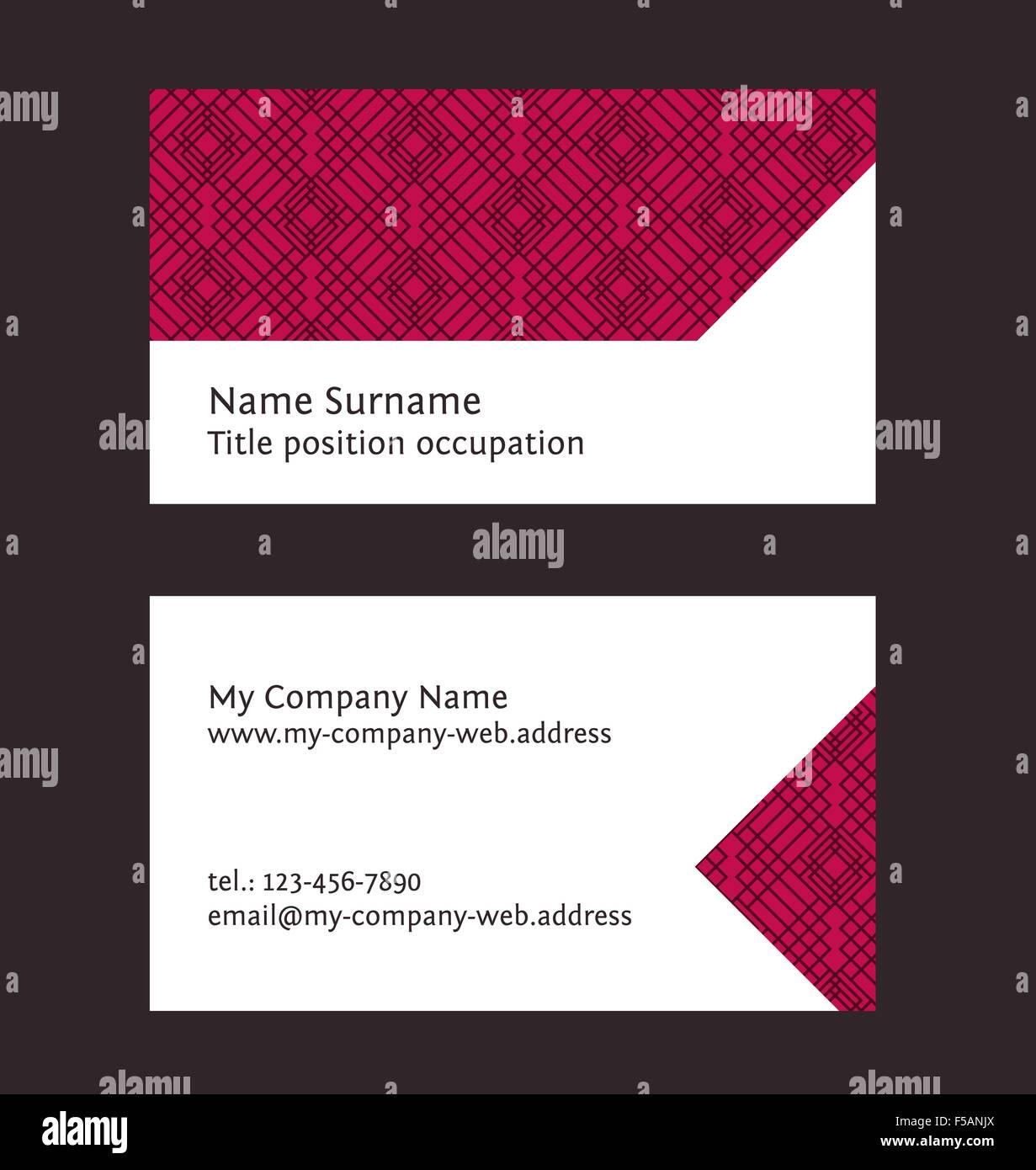 Business card layout linear geometric pattern editable design business card layout linear geometric pattern editable design template flashek Choice Image