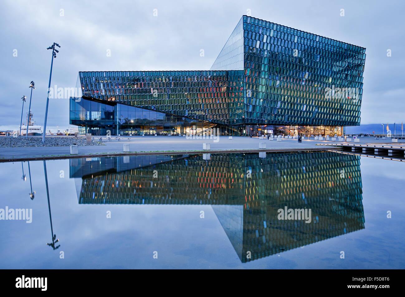 Harpa Concert Hall and Conference Center, Reykjavik, Iceland - Stock Image