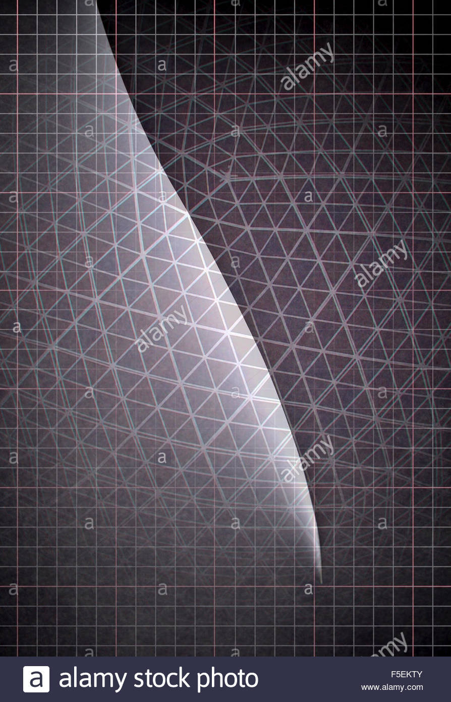 Abstract light and dark grid pattern - Stock Image