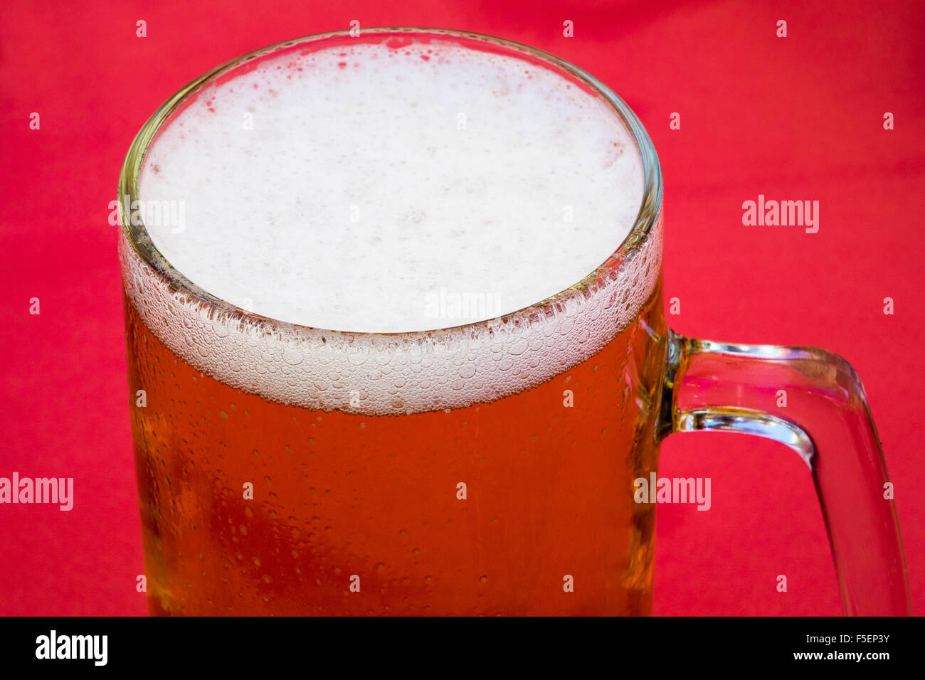 Beer in a glass tankard - Stock Image