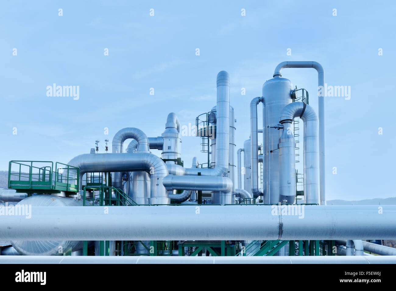 Geothermal power is a form of alternative and sustainable energy production compared to those that use fossil fuels. - Stock Image