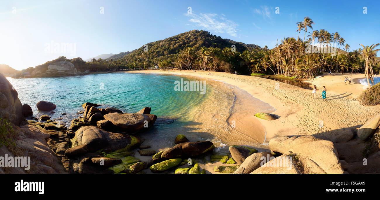 Parque Tayrona, Colombia. National park on the Caribbean coast. Beach El Cabo del San Juan. - Stock Image