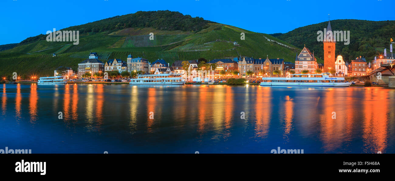 Bernkastel-Kues is a well-known winegrowing centre on the Middle Moselle in the Bernkastel-Wittlich district in - Stock Image