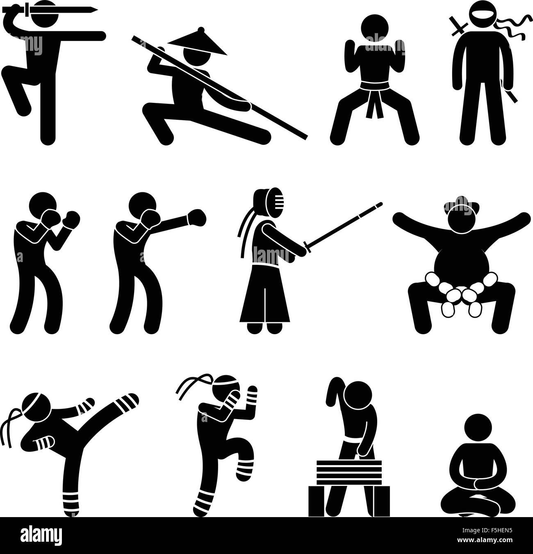 Kung fu martial arts self defense chinese wushu ninja boxer kendo kung fu martial arts self defense chinese wushu ninja boxer kendo sumo muay thai icon symbol sign pictogram biocorpaavc Choice Image