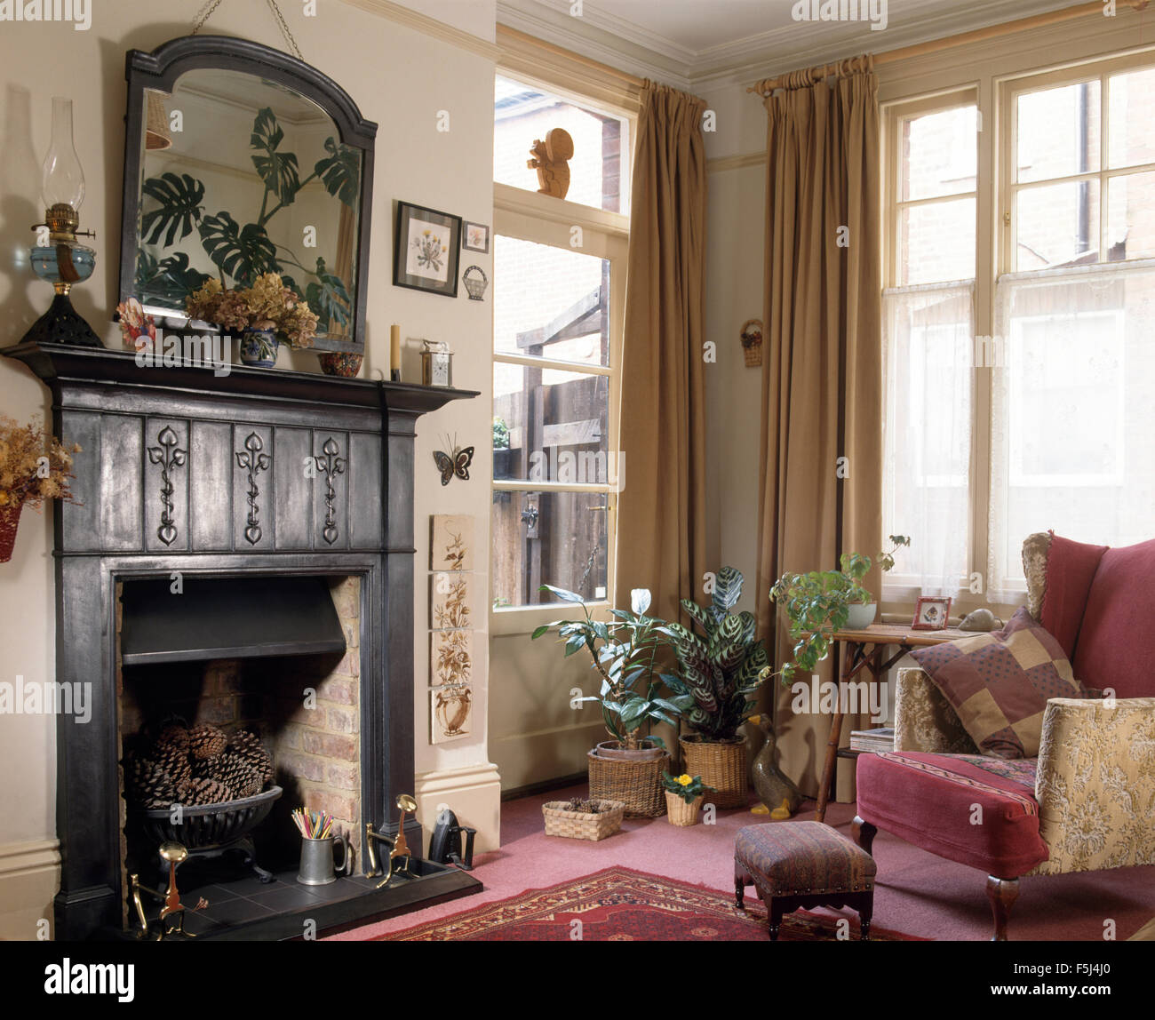 Original Cast Iron Edwardian Fireplace In A Seventies
