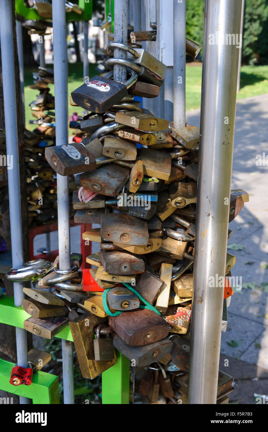 Locked Padlock As A Symbol Of Affection Between Couples In Elizabeth
