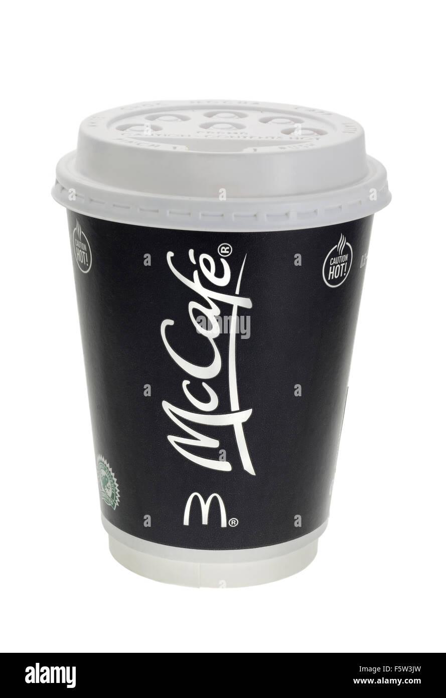 McDonalds Take Away Coffee Stock Photo
