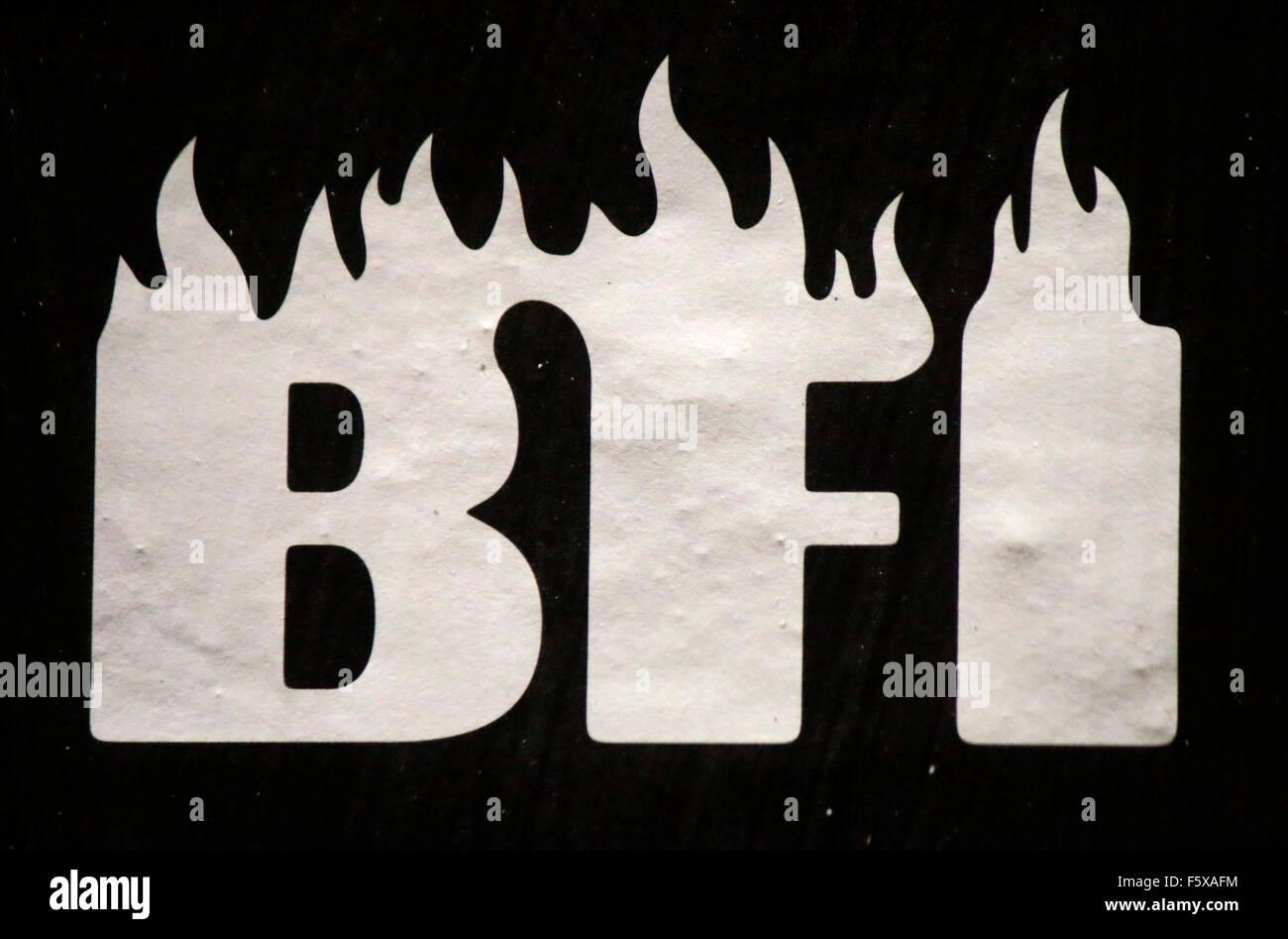 Markennamen: 'BFI', Berlin. - Stock Image