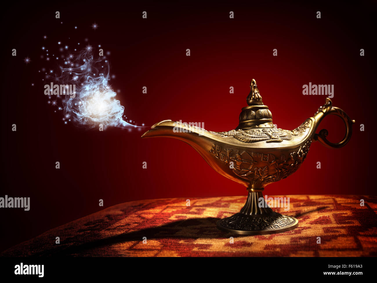 Magic Aladdins Genie lamp - Stock Image