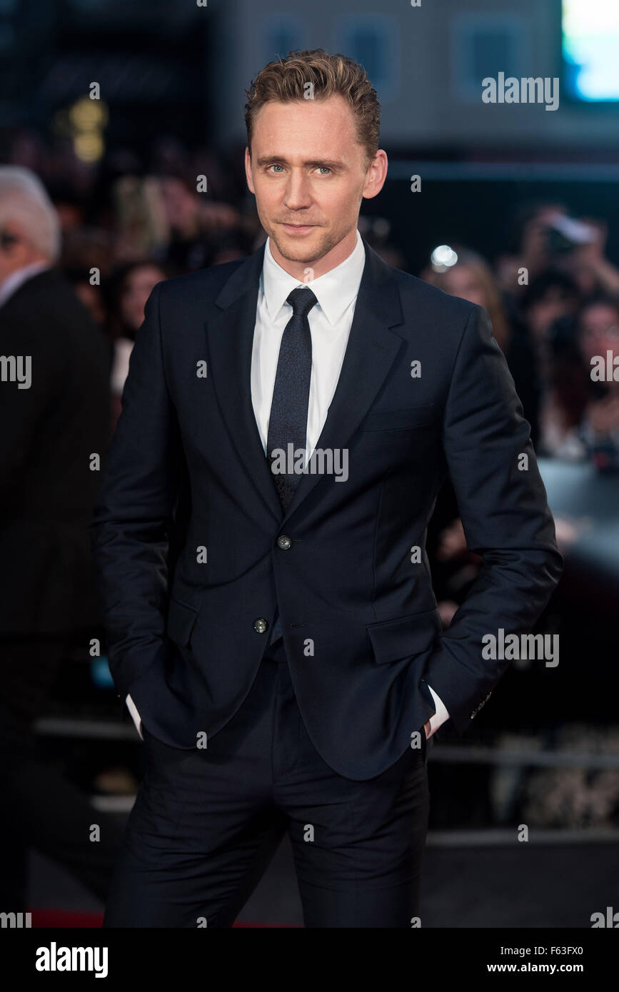BFI LFF: High Rise festival Gala held at the Odeon Leicester Square - Arrivals.  Featuring: Tom Hiddleston Where: - Stock Image