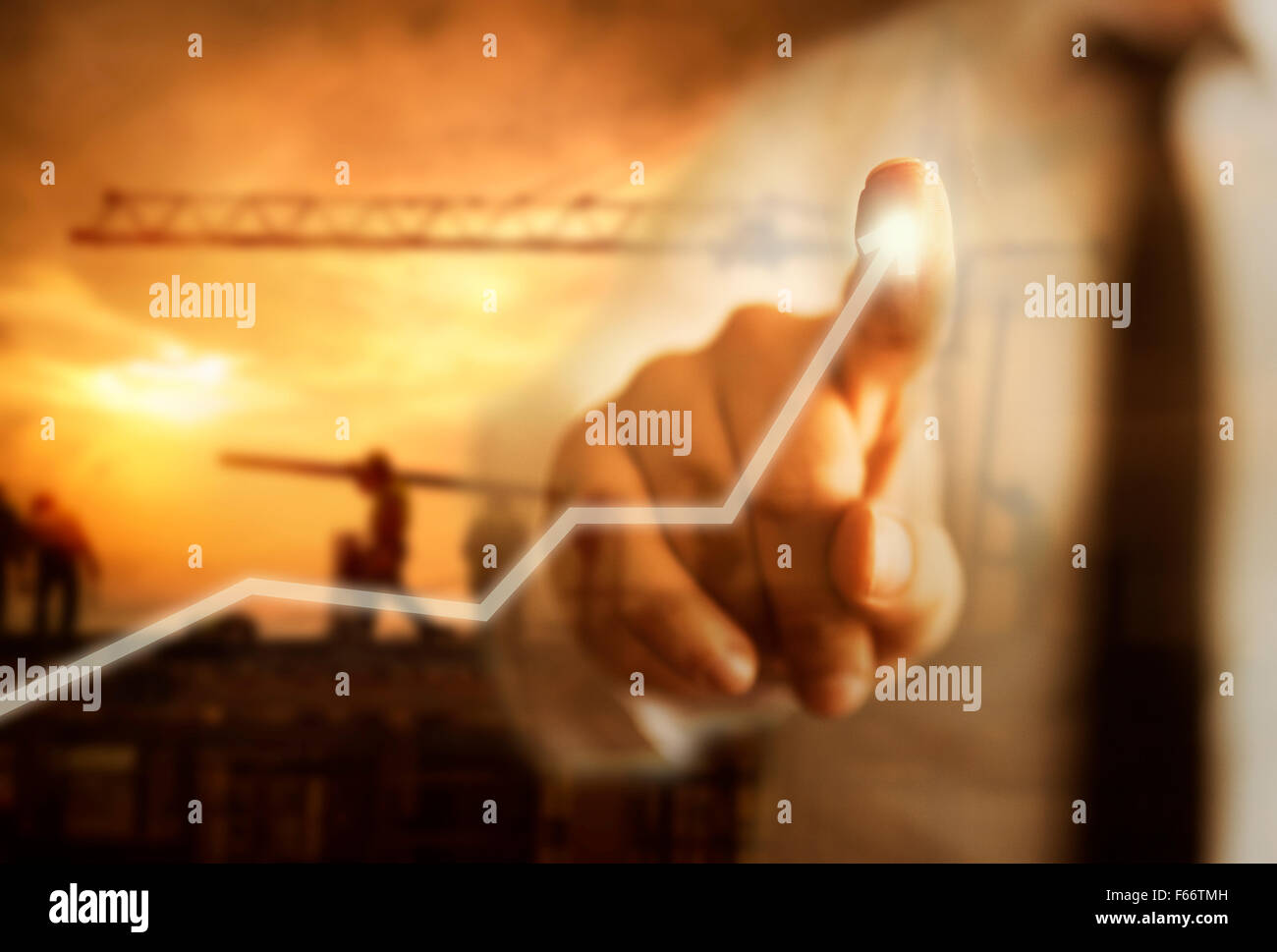 Business Growth Concept with construction - Stock Image