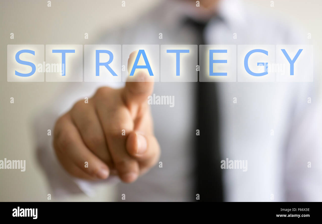 business and strategy concept - Stock Image